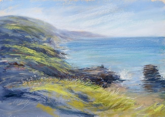 Evening Light on the Cliffs, £495