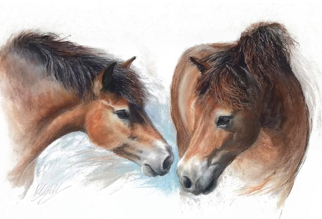 A Friendly Greeting (on white), SOLD